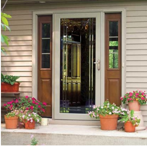 Security and screen doors for Storm doors for patio doors