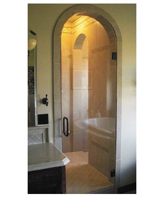 frameless-arched-glass-shower-enclosure