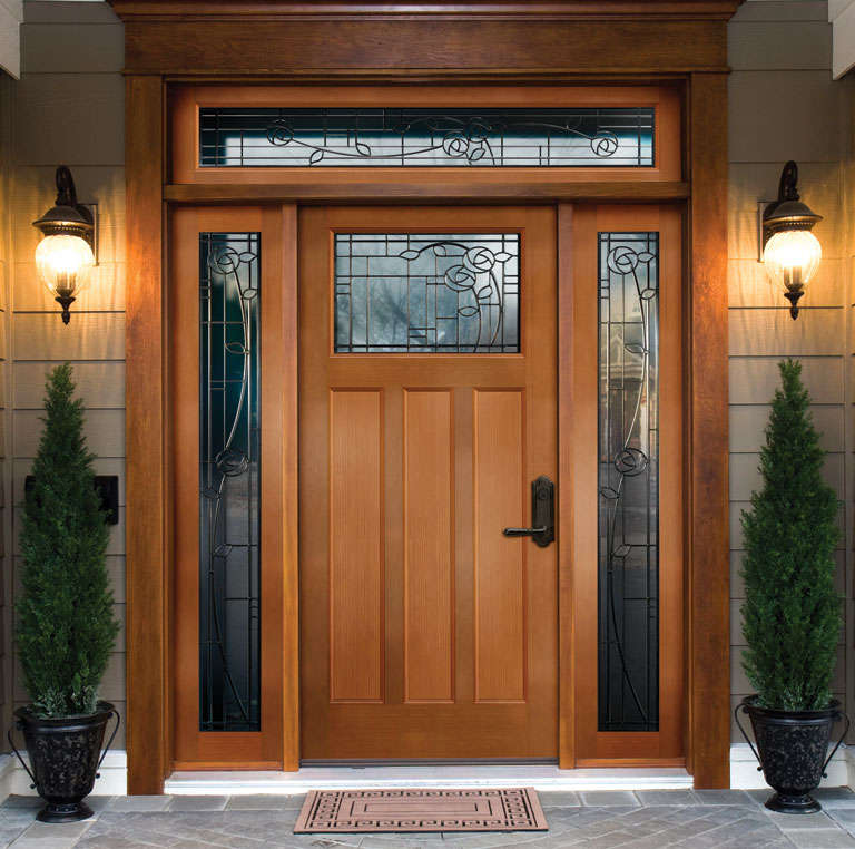 Wood exterior doors for Simple wooden front door designs